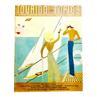 1933 Touring Topics, Art Deco Magazine For Sale