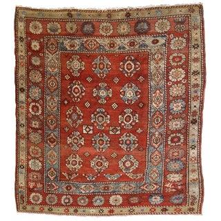 1880s, Handmade Antique Turkish Melas Square Rug 5.8' X 6.1' For Sale