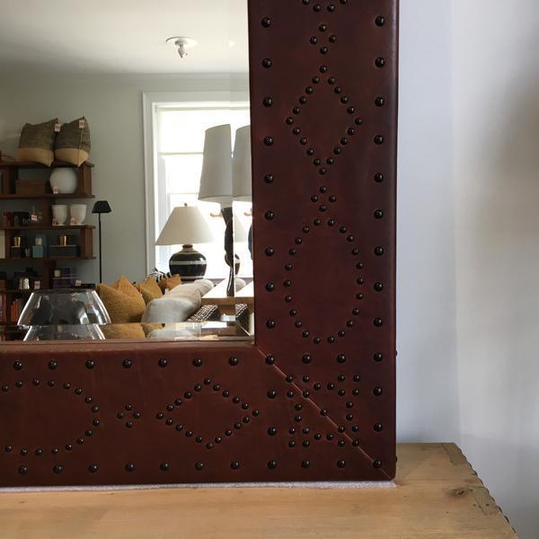 Ralph Lauren Ralph Lauren Home Safari Mirror For Sale - Image 4 of 7