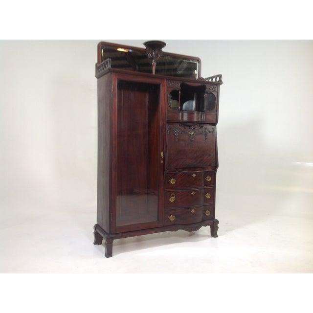 Antique Mahogany Victorian Curio/Desk - Image 5 of 9