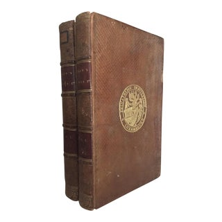 Early 19th C. Memoirs of the Court of King James I by Lucy Aikin Volumes - a Pair For Sale