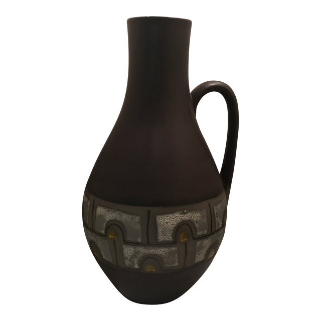 1960s Mid Century Modern Austrian Ceramic Pottery Pitcher For Sale