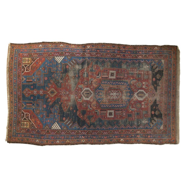 "Antique Hamadan Rug - 4'9"" X 7'11"" - Image 13 of 13"