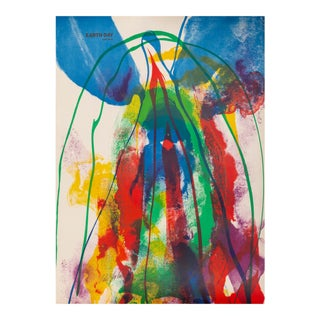 """Paul Jenkins, """"Earth Day"""", Signed Lithograph For Sale"""