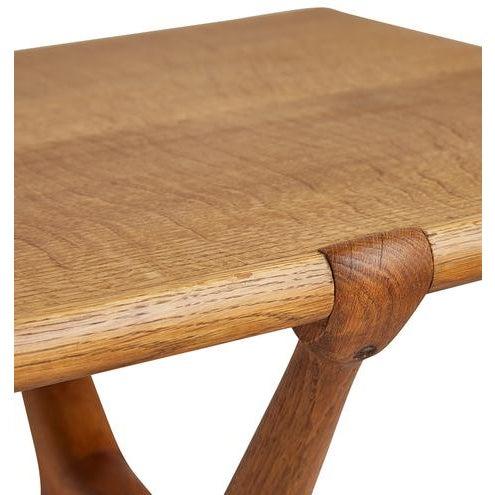 WorldClass Swedish Midcentury Oak Coffee Table W Unusual Xlegs - Mid century oak coffee table