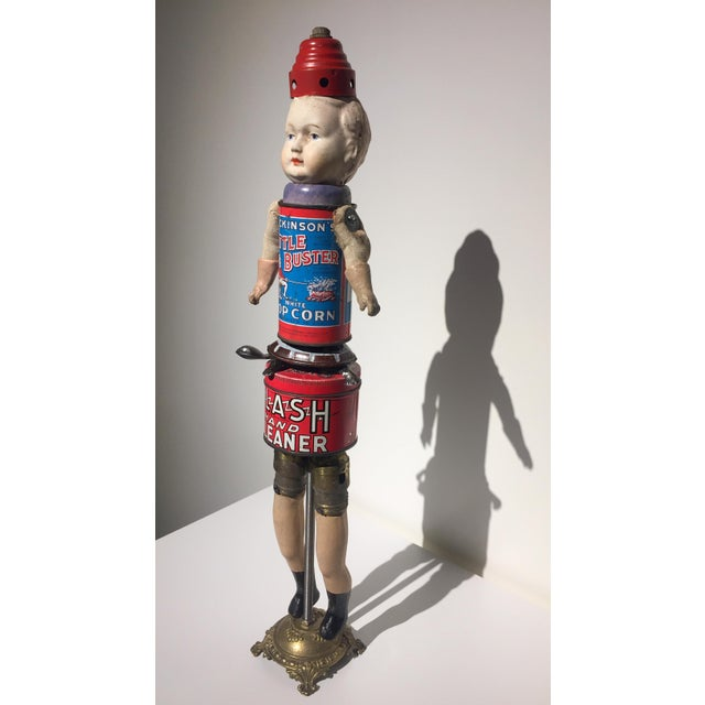 Folk Art Recomposed Antique Doll- Little Buster For Sale - Image 3 of 6
