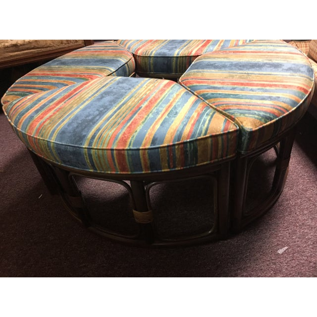 1970's Vintage Walnut Adjustable Games Table & Stools- 5 Pieces For Sale - Image 10 of 11