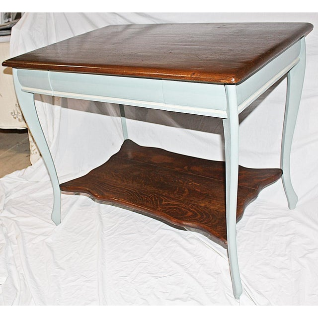 American 19th Century Early American Oak Writing Desk For Sale - Image 3 of 9