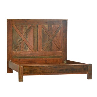 Reclaimed X Barn Style Eastern King Bedframe For Sale