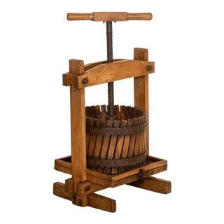 Antique Small Wine Press For Sale