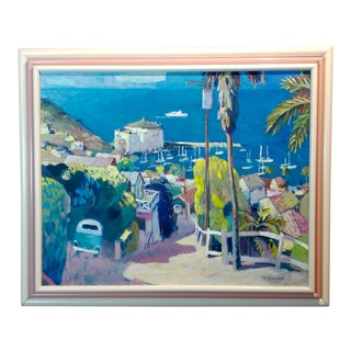 Ramon Moscardo Fernandez View of Catalina Island, CA Oil Painting For Sale