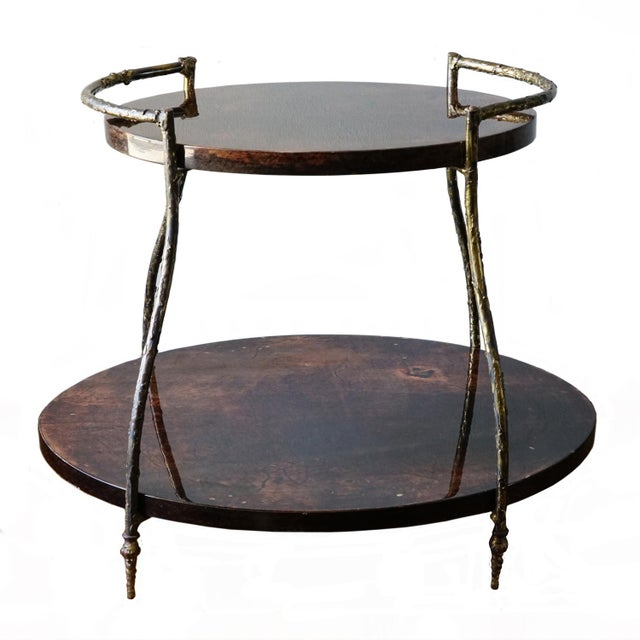 Gold Aldo Tura Cocktail Table For Sale - Image 8 of 8