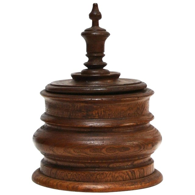 1920s Wooden Tobacco Jar From 1920s Belgium For Sale - Image 5 of 5