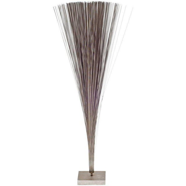 """Harry Bertoia Early Stainless Steel """"spray"""" Sculpture, Usa, 1960s For Sale In New York - Image 6 of 6"""