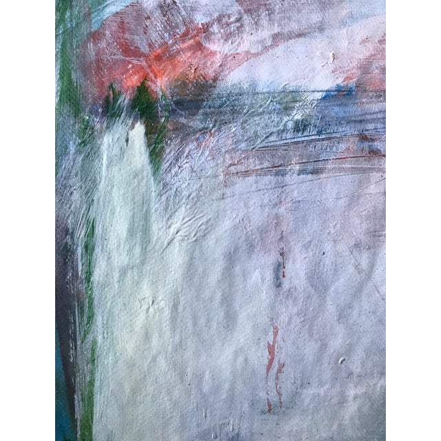 """Patricia Zippin East Creek Bridge 1980s Mixed Media 20""""x 14.5"""", unframed Signed in ink bottom right and titled in ink on..."""