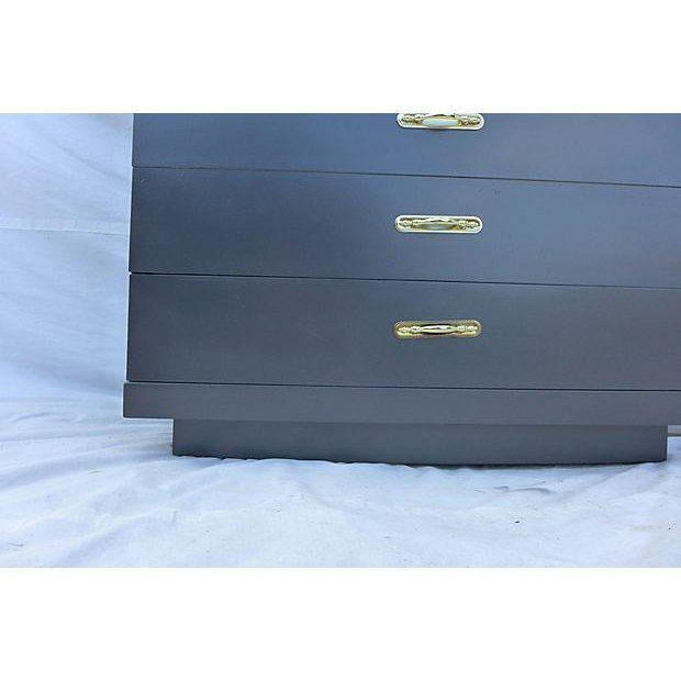Urban Style Step-Down Tall Dresser in Asian Black For Sale - Image 4 of 8
