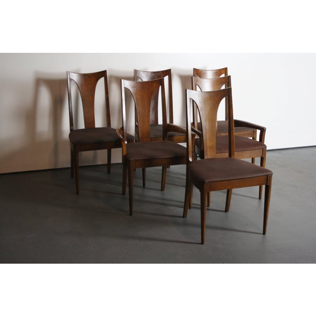 Broyhill Broyhill Brasilia Walnut Dining Chairs - Set of 6 For Sale - Image 4 of 11