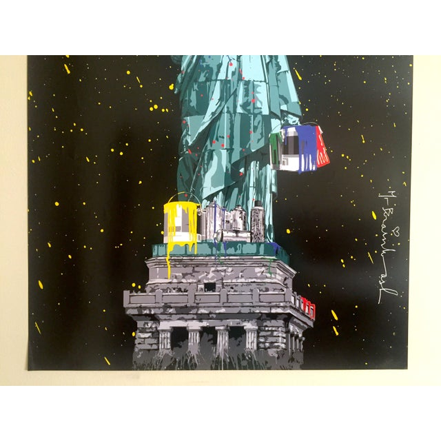 "Various Artists Mr. Brainwash "" Statue of Liberty "" Authentic Lithograph Print Pop Art Poster For Sale - Image 4 of 12"