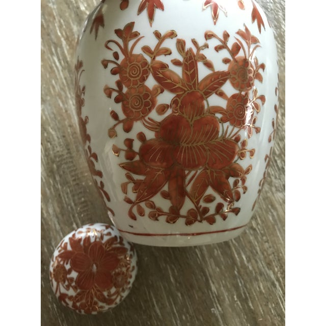Asian Painted Porcelain Ginger Jar Vase - Image 7 of 11