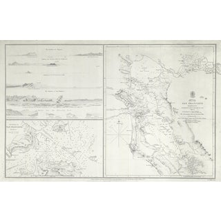 1827 San Francisco Harbor Nautical Map