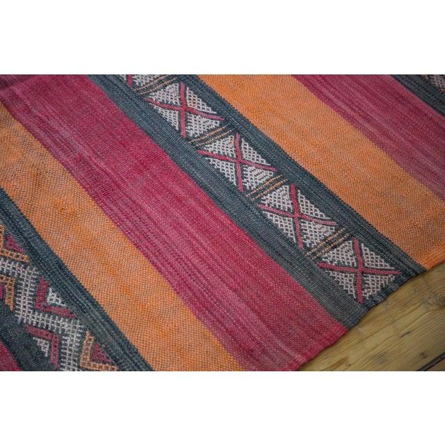 """Orange Vintage Kilim Rug Runner - 4'1"""" X 10'4"""" For Sale - Image 8 of 8"""