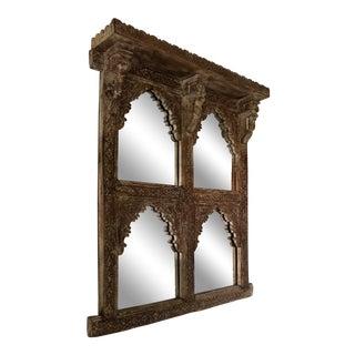 20th Century Folk Art Mughal Teak Mirror