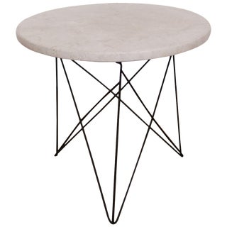 1950s Mid-Century Modern Martin Perfit for Rene Brancusi Terrazzo Top Occasional Table For Sale