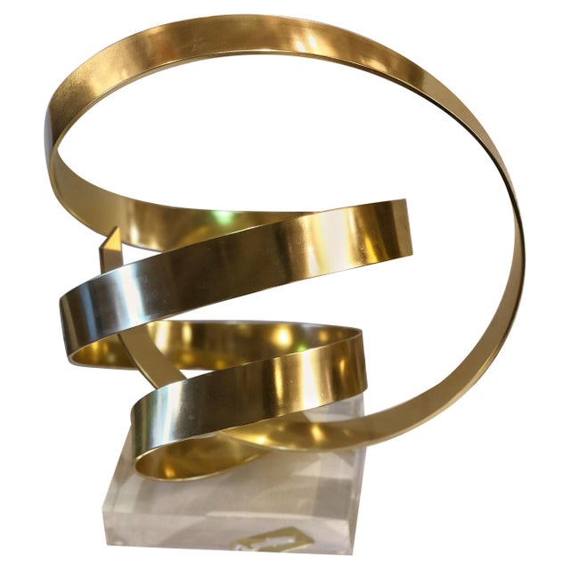 Metal Abstract Gilt Aluminum Sculpture by Dan Murphy For Sale - Image 7 of 7