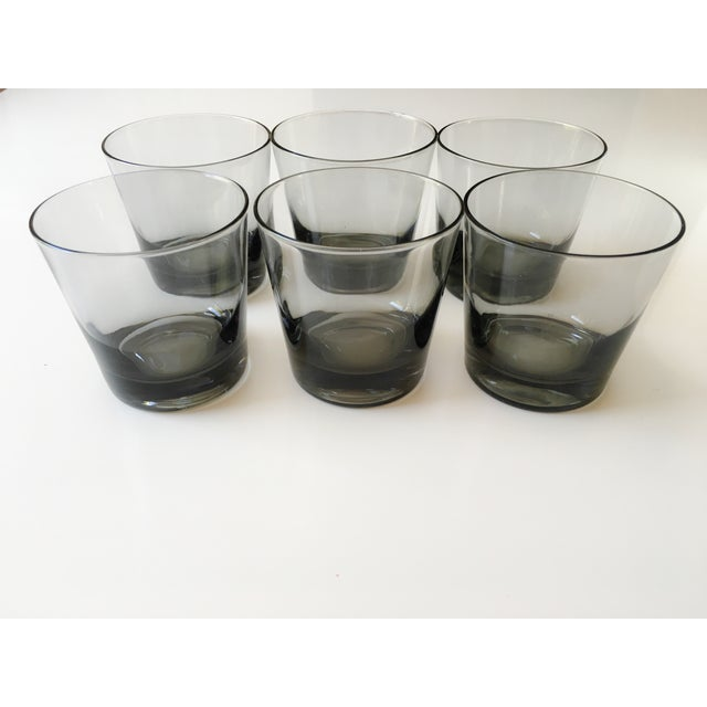 Mid-Century Smoked Glasses - Set of 6 - Image 2 of 7