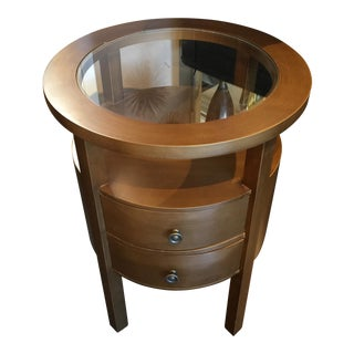 Round Glass Top Table For Sale