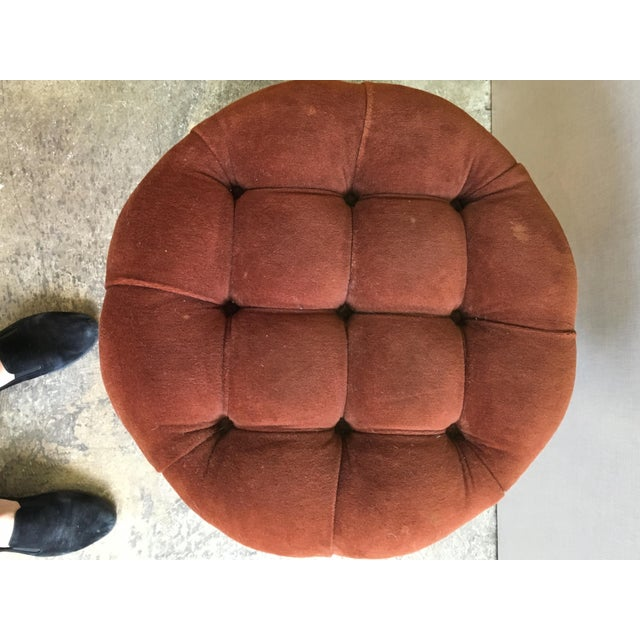 1970s Vintage Mastercraft Chunky Brass Stool For Sale In Chicago - Image 6 of 8