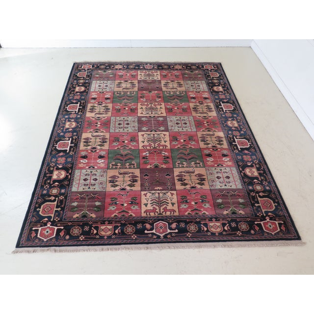 1990s Vintage Karastan Pictorial Rug- 8′7″ × 11′6″ For Sale - Image 10 of 10
