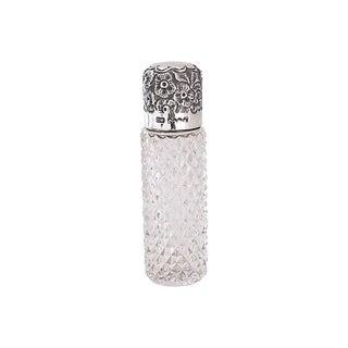 D. 1910 English Sterling & Crystal Scent Bottle For Sale