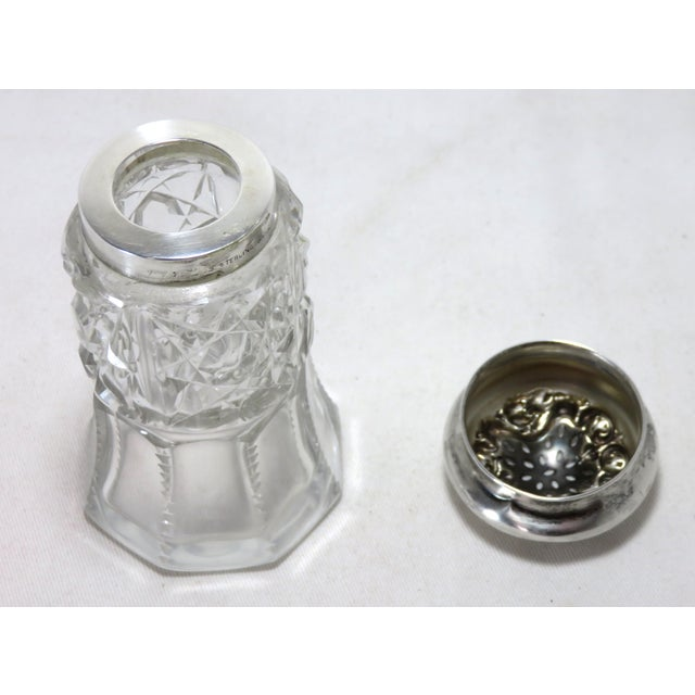 Wallace Silversmiths Early 20th Century Antique Wallace Silversmiths Crystal & Sterling Silver Sugar Shaker For Sale - Image 4 of 13