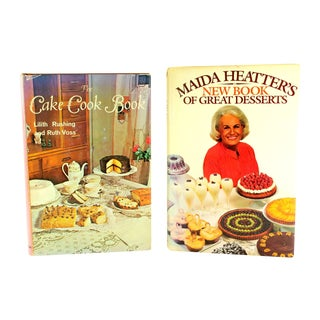 Vintage First Edition Cake and Dessert Cookbooks