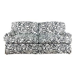 Modern Black and White Sofa