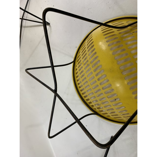 Mid Century Howard Johnson Hotel Yellow Solar Lounge Chairs- a Pair For Sale - Image 10 of 11
