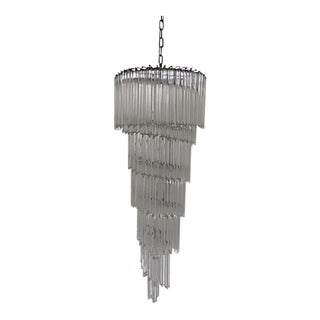 6-Tier Cascading Glass Chandelier
