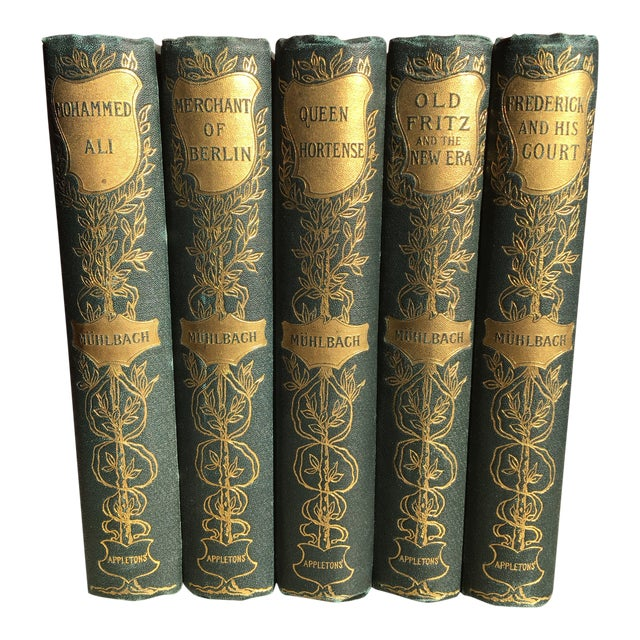 19th Century Traditional Luise Mulbach Antique Books - Set of 5 For Sale