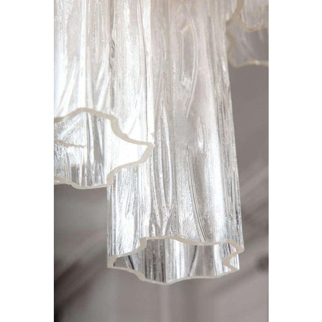Transparent Venini Tube Chandelier For Sale - Image 8 of 8