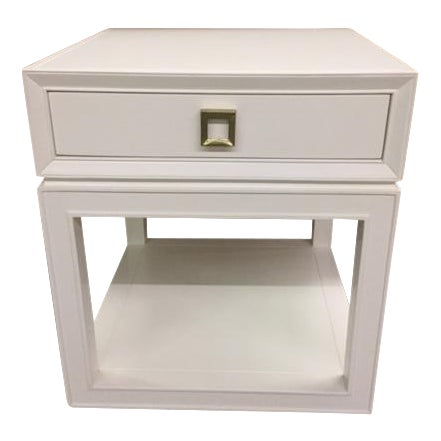 """Malibu Loft"" Single Drawer White Side Table For Sale"