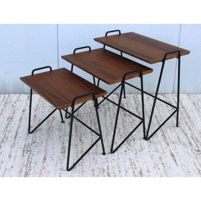 Tony Paul Tony Paul Modernist Nesting Tables For Sale - Image 4 of 11
