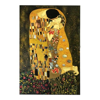 Early 20th Century Antique Gustav Klimt (After) Kiss Painting For Sale
