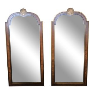 1980s Vintage Kindel Regency Style Mirrors - A Pair For Sale