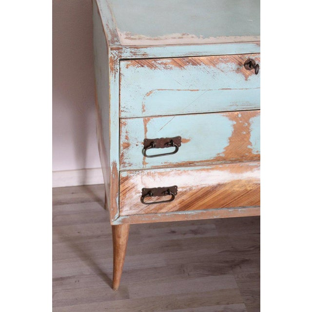 20th Century Italian Vintage Design Lacquered Commode or Chest With Frame For Sale - Image 10 of 13