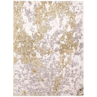 Organic Contemporary Area Rug in Silk and Wool by Carini, 10'x14' For Sale