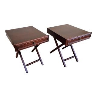 1980s Folding End Tables - a Pair For Sale