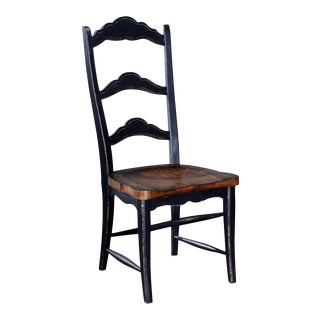 Side Chair Dining Colonial Blackwash Wood Pecan For Sale