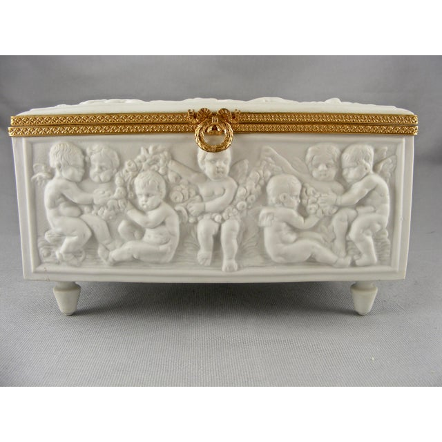Limoges France White Bisque Dresser Box - Image 2 of 10