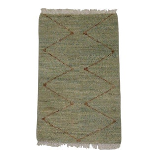 Contemporary Small Moroccan Style Rug - 1′11″ × 3′ For Sale